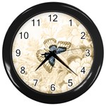 Butterfly Clock - Wall Clock (Black)