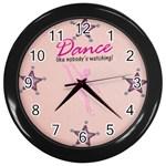 dance clock - Wall Clock (Black)