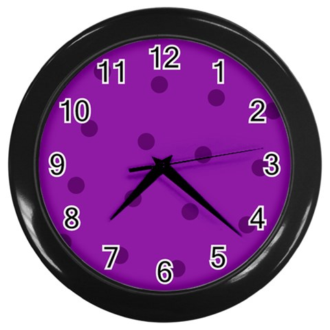 Purple Clock By Brookieadkins Yahoo Com   Wall Clock (black)   T4sm1twav984   Www Artscow Com Front