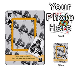 King Support Our Troops By Brookieadkins Yahoo Com   Playing Cards 54 Designs   Io42ffm4jan4   Www Artscow Com Front - SpadeK