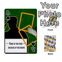 Ace Support Our Troops By Brookieadkins Yahoo Com   Playing Cards 54 Designs   Io42ffm4jan4   Www Artscow Com Front - SpadeA