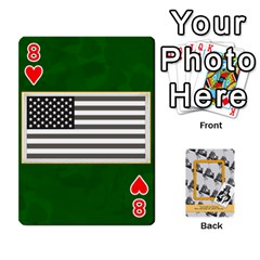 Support Our Troops By Brookieadkins Yahoo Com   Playing Cards 54 Designs   Io42ffm4jan4   Www Artscow Com Front - Heart8