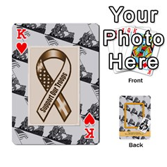 King Support Our Troops By Brookieadkins Yahoo Com   Playing Cards 54 Designs   Io42ffm4jan4   Www Artscow Com Front - HeartK