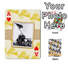 Ace Support Our Troops By Brookieadkins Yahoo Com   Playing Cards 54 Designs   Io42ffm4jan4   Www Artscow Com Front - HeartA