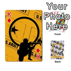 King Support Our Troops By Brookieadkins Yahoo Com   Playing Cards 54 Designs   Io42ffm4jan4   Www Artscow Com Front - DiamondK