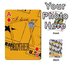 Ace Support Our Troops By Brookieadkins Yahoo Com   Playing Cards 54 Designs   Io42ffm4jan4   Www Artscow Com Front - DiamondA
