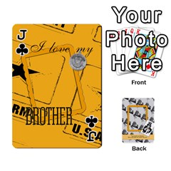 Jack Support Our Troops By Brookieadkins Yahoo Com   Playing Cards 54 Designs   Io42ffm4jan4   Www Artscow Com Front - ClubJ