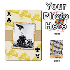 Ace Support Our Troops By Brookieadkins Yahoo Com   Playing Cards 54 Designs   Io42ffm4jan4   Www Artscow Com Front - ClubA