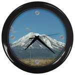 tick tock mt shasta - Wall Clock (Black)