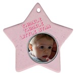Baby s First Christmas - Star Ornament (Two Sides)