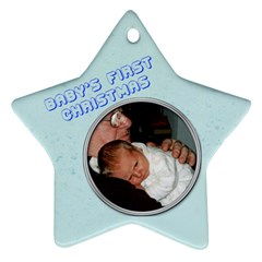Baby s First Christmas By Catvinnat   Star Ornament (two Sides)   Bqzic4z92f32   Www Artscow Com Back