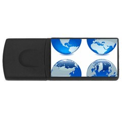 43 (8) Earths USB Flash Drive Rectangular (1 GB) by bluestaroceans