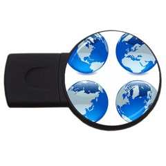 43 (8) Earths USB Flash Drive Round (4 GB) by bluestaroceans