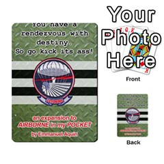 Geronimo! Airborne Expansion By James Hebert   Multi Purpose Cards (rectangle)   Iwu2mfw1tzgd   Www Artscow Com Back 1