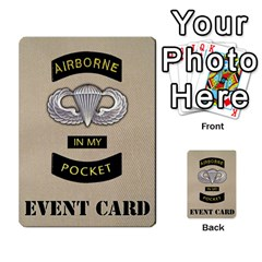 Geronimo! Airborne Expansion By James Hebert   Multi Purpose Cards (rectangle)   Iwu2mfw1tzgd   Www Artscow Com Back 30
