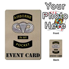 Geronimo! Airborne Expansion By James Hebert   Multi Purpose Cards (rectangle)   Iwu2mfw1tzgd   Www Artscow Com Back 49
