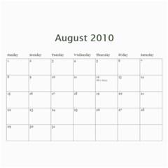 2010 Calender By Maggie Li   Wall Calendar 11  X 8 5  (12 Months)   Jr0fe7mepss8   Www Artscow Com Aug 2010