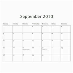 2010 Calender By Maggie Li   Wall Calendar 11  X 8 5  (12 Months)   Jr0fe7mepss8   Www Artscow Com Sep 2010