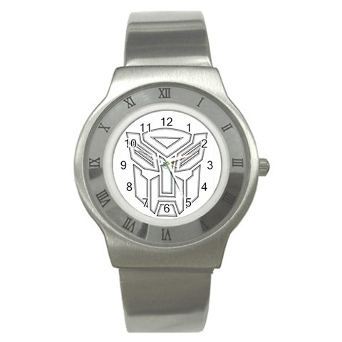 Transformers Watch By Jessica   Stainless Steel Watch   351gz7vbt3wc   Www Artscow Com Front
