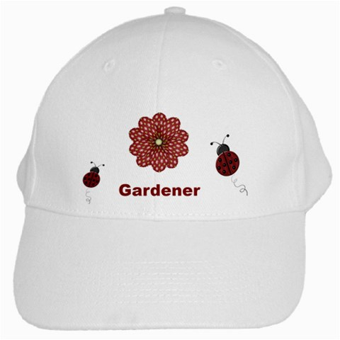 Ladybug Cap By Sooze   White Cap   Etng96i7n94c   Www Artscow Com Front