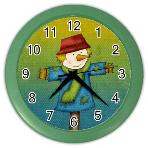 Scarecrow Clock By Sooze   Color Wall Clock   C2g2ijhjipul   Www Artscow Com Front