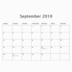 Yat Yat Calender By Maggie Li   Wall Calendar 11  X 8 5  (12 Months)   C6tlf5hblui4   Www Artscow Com Sep 2010