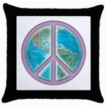 Peace Throw Pillow Case (Black)
