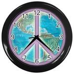 Peace Wall Clock (Black)