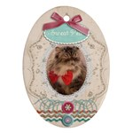 bobo-oval tag - Ornament (Oval)
