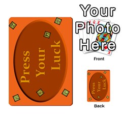 Press Your Luck Deck 1 By Jighm Brown   Multi Purpose Cards (rectangle)   Qhsy4iljgmnr   Www Artscow Com Back 30
