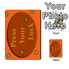 Press Your Luck Deck 1 By Jighm Brown   Multi Purpose Cards (rectangle)   Qhsy4iljgmnr   Www Artscow Com Back 4