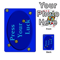 Press Your Luck Deck 3 By Jighm Brown   Multi Purpose Cards (rectangle)   Df3ko85ymqcg   Www Artscow Com Back 54