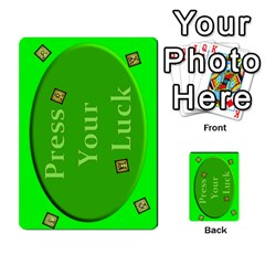 Press Your Luck Deck 3 By Jighm Brown   Multi Purpose Cards (rectangle)   Df3ko85ymqcg   Www Artscow Com Back 40