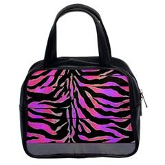 Psychadelic Zebra Purse By Catvinnat   Classic Handbag (two Sides)   Sa1w65z30est   Www Artscow Com Front