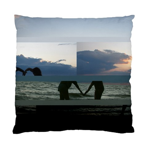 Sunset Silouette Of My Girls By Tanya   Standard Cushion Case (one Side)   9qwl879baelm   Www Artscow Com Front