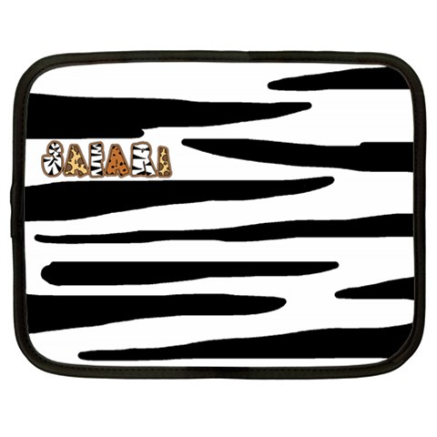 Safari Lg Netbook Case By Catvinnat   Netbook Case (large)   S4c37mzfmqvw   Www Artscow Com Front