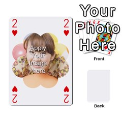 Special 4 Numbers Version By Berry   Playing Cards 54 Designs   Erzsak34ei2l   Www Artscow Com Front - Heart2