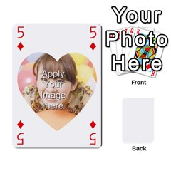 Special 4 Numbers Heart Version By Berry   Playing Cards 54 Designs   Semqqz4z1bym   Www Artscow Com Front - Diamond5