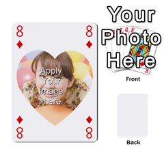 Special 4 Numbers Heart Version By Berry   Playing Cards 54 Designs   Semqqz4z1bym   Www Artscow Com Front - Diamond8