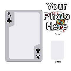 Ace Sliver Border By Wood Johnson   Playing Cards 54 Designs   Eab1ptdxrzan   Www Artscow Com Front - ClubA