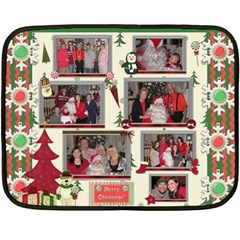 Xmas Blanket By Starla Smith   Double Sided Fleece Blanket (mini)   Qy2qq77lz07z   Www Artscow Com 35 x27 Blanket Back