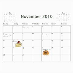 Calendar By Kelly   Wall Calendar 11  X 8 5  (12 Months)   S9ka6c7xkrhh   Www Artscow Com Nov 2010