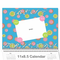Caitlin Call By Brittany Walker   Wall Calendar 11  X 8 5  (12 Months)   3yf375aniod5   Www Artscow Com Cover