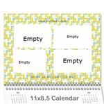 gin calender - Wall Calendar 11  x 8.5  (12-Months)