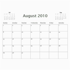 Calender By Reba   Wall Calendar 11  X 8 5  (12 Months)   Bzeoxzba9hnc   Www Artscow Com Aug 2010