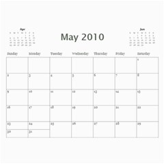 Album Iuri By Vivis   Wall Calendar 11  X 8 5  (12 Months)   Jmt6cnropxnf   Www Artscow Com May 2010