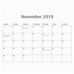 Calproj By Rusty   Wall Calendar 11  X 8 5  (12 Months)   3cytjx71py5x   Www Artscow Com Nov 2010