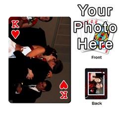 King Josh Wedding By Sherri   Playing Cards 54 Designs   4lzlfyo8mov7   Www Artscow Com Front - HeartK