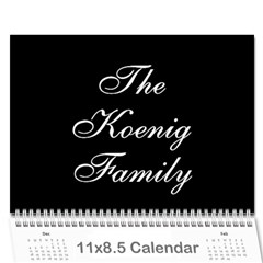 Family Calendar By Kelsey   Wall Calendar 11  X 8 5  (12 Months)   9q86itnjsnrv   Www Artscow Com Cover
