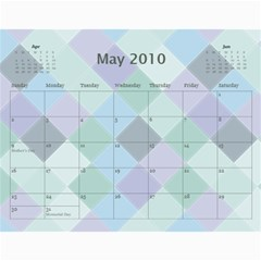 Family Calendar By Kelsey   Wall Calendar 11  X 8 5  (12 Months)   9q86itnjsnrv   Www Artscow Com May 2010